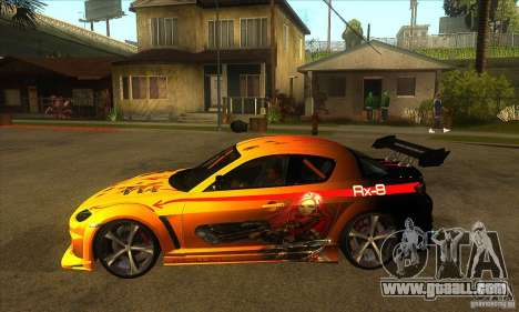 Mazda RX8 Slipknot Style for GTA San Andreas left view