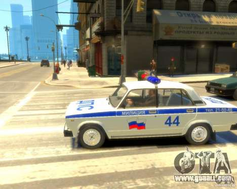Vaz-2105 police for GTA 4 right view