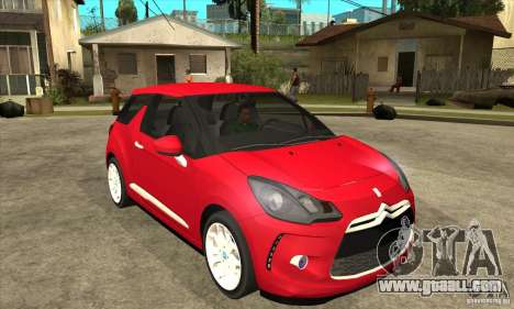 Citroen DS3 2011 for GTA San Andreas back view