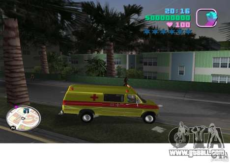 Ford Econoline E350 Ambulance for GTA Vice City