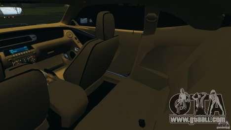 Chevrolet Camaro ZL1 2012 v1.0 Smoke Stripe for GTA 4 inner view