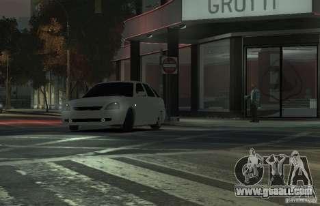VAZ Lada Priora 2172 for GTA 4 back view