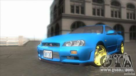 Nissan Skyline GTR-34 for GTA San Andreas back view