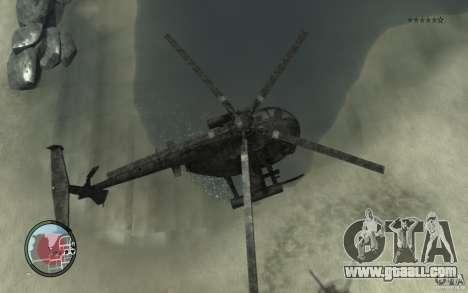 AH-6 Little Bird AcuDigital Camo for GTA 4 right view