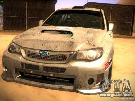 Subaru Impreza Gravel Rally for GTA San Andreas left view