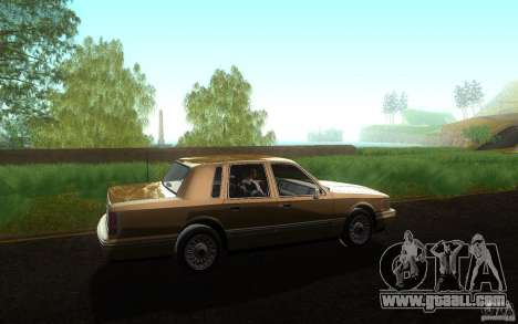 Lincoln Towncar 1991 for GTA San Andreas left view