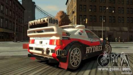 Ford RS200 Evolution Rallycross for GTA 4 left view
