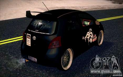 Toyota Yaris for GTA San Andreas back left view
