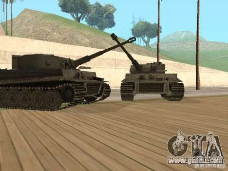 Pzkpfw VI Tiger for GTA San Andreas back left view