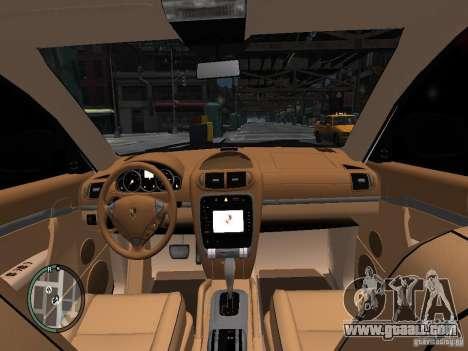 Porsche Cayenne Turbo 2003 v.2.0 for GTA 4 inner view