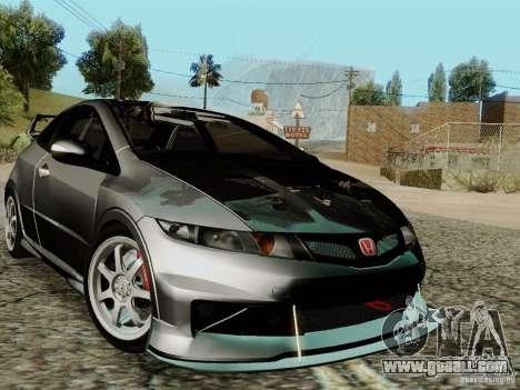 Honda Civic TypeR Mugen 2010 for GTA San Andreas interior