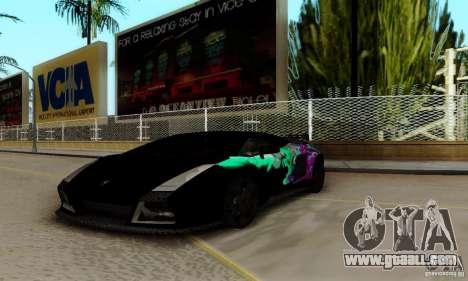 Lamborghini Gallardo for GTA San Andreas upper view