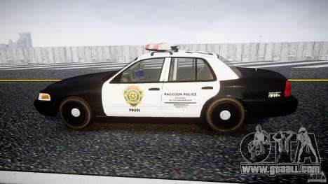 Ford Crown Victoria Raccoon City Police Car for GTA 4 left view