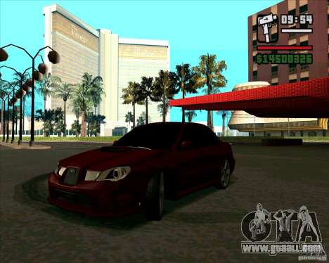 Subaru Impreza tuning for GTA San Andreas