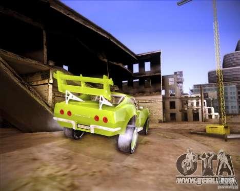 Chevrolet Corvette drag for GTA San Andreas back left view