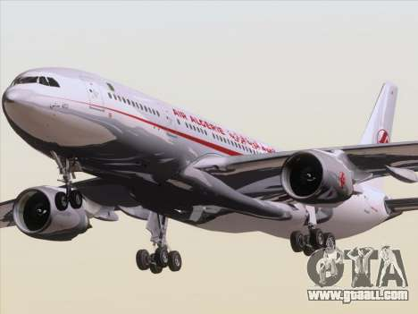 Airbus A330-203 Air Algerie for GTA San Andreas back left view