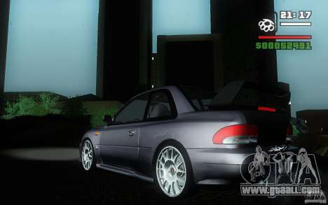 Subaru Impreza 22B for GTA San Andreas left view