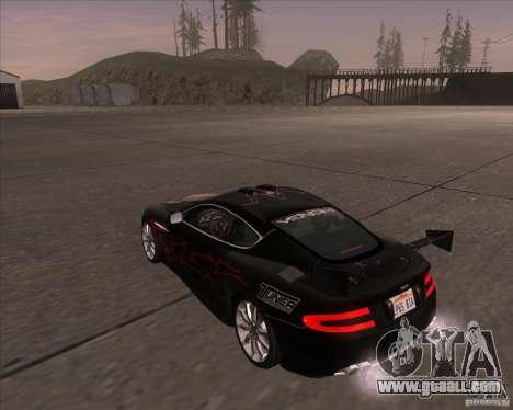Aston Martin DB9 tunable for GTA San Andreas right view