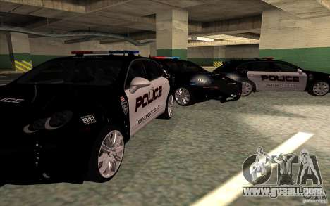 Porsche Cayenne Turbo 958 Seacrest Police for GTA San Andreas back view