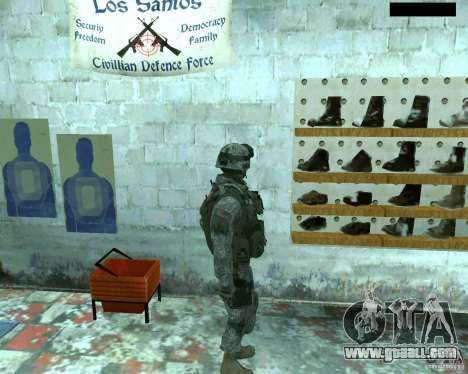 Skin infantryman CoD MW 2 for GTA San Andreas third screenshot