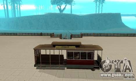 Tram for GTA San Andreas back left view