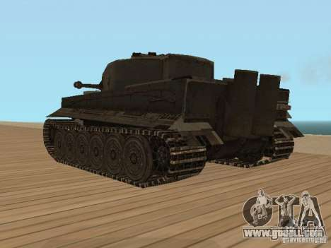 Pzkpfw VI Tiger for GTA San Andreas left view