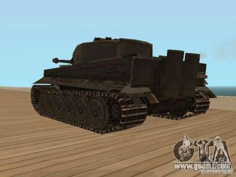 Pzkpfw VI Tiger for GTA San Andreas left view
