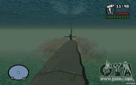 Submarine for GTA San Andreas forth screenshot