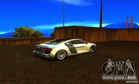 Audi R8 V12 TDI for GTA San Andreas back left view