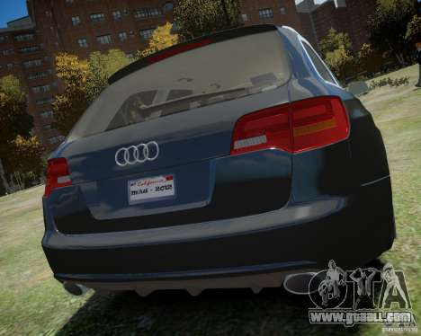 Audi A6 Avant Stanced for GTA 4 right view