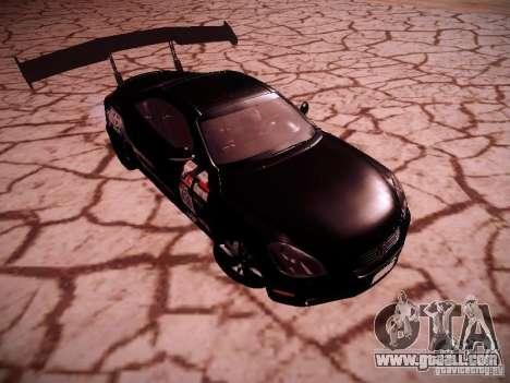 Lexus SC430 Daigo Saito for GTA San Andreas back view