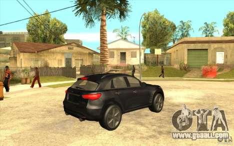 Infiniti FX50 Beta for GTA San Andreas right view