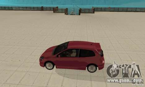 Honda Civic Type R - Stock + Airbags for GTA San Andreas back left view