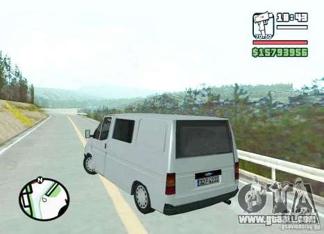 Ford Transit 1999 for GTA San Andreas back left view