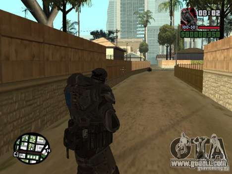 Marcus Fenix from Gears of War 2 for GTA San Andreas forth screenshot