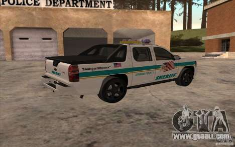 Chevrolet Avalanche Orange County Sheriff for GTA San Andreas left view