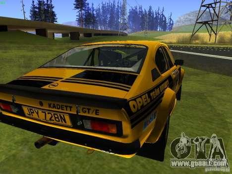 Opel Kadett for GTA San Andreas left view