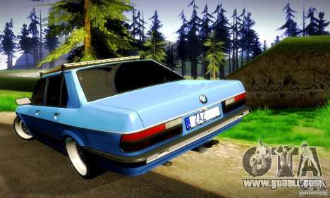 BMW E28 525e RatStyle No1 for GTA San Andreas upper view
