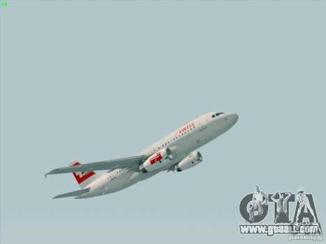 Airbus A319-112 Swiss International Air Lines for GTA San Andreas left view