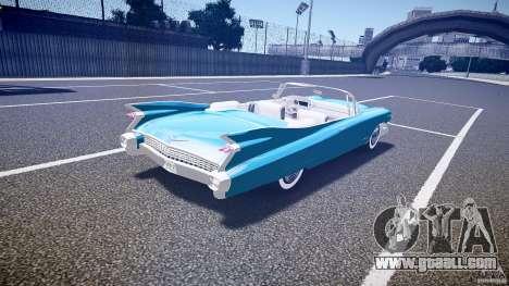 Cadillac Eldorado 1959 interior white for GTA 4 upper view