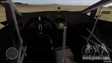 Ken Block Ford Fiesta 2011 for GTA 4 inner view