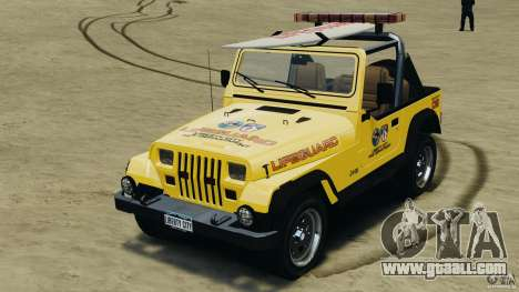 Jeep Wrangler 1988 Beach Patrol v1.1 [ELS] for GTA 4