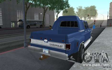 Chevrolet Silverado 3500 for GTA San Andreas back left view