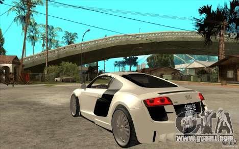 Audi R8 5.2 FSI custom for GTA San Andreas back left view