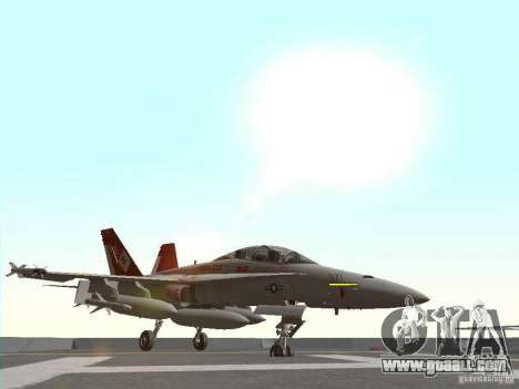 FA-18D Hornet for GTA San Andreas left view