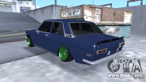 Datsun 510 Drift for GTA San Andreas back left view
