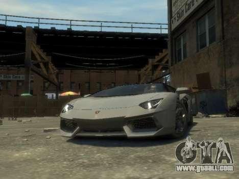 Lamborghini Aventador LP700-4 EPM for GTA 4 back view