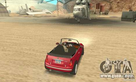 Mini Cooper Convertible for GTA San Andreas left view