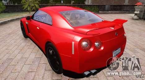 Nissan GTR R35 v1.0 for GTA 4 back view
