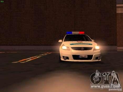 Suzuki SX-4 Hungary Police for GTA San Andreas engine